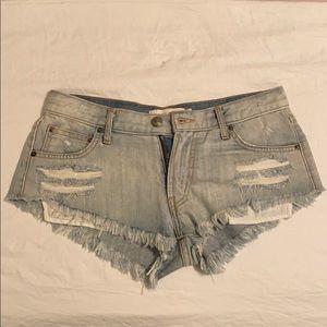 Kittenish Distressed Shorts
